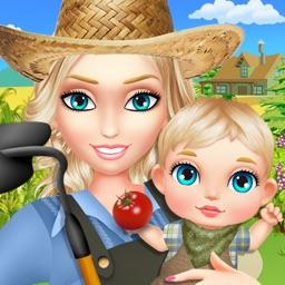 Farmer Mom Baby Care Simulator