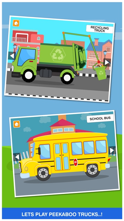 Peekaboo Trucks Cars and Things That Go Lite Learning Game for Kids screenshot-3