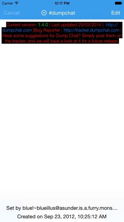 Dump Chat - IRC Client screenshot-4