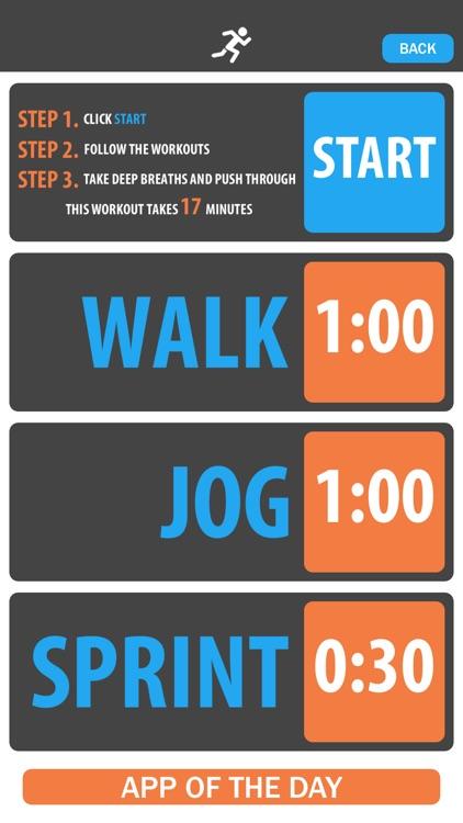 Walk, Jog, Sprint! - High Intensity Interval Training (HIIT)