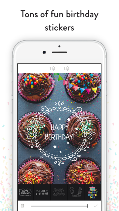 Birthday Stickers - Frames, Balloons and Party Decor Photo