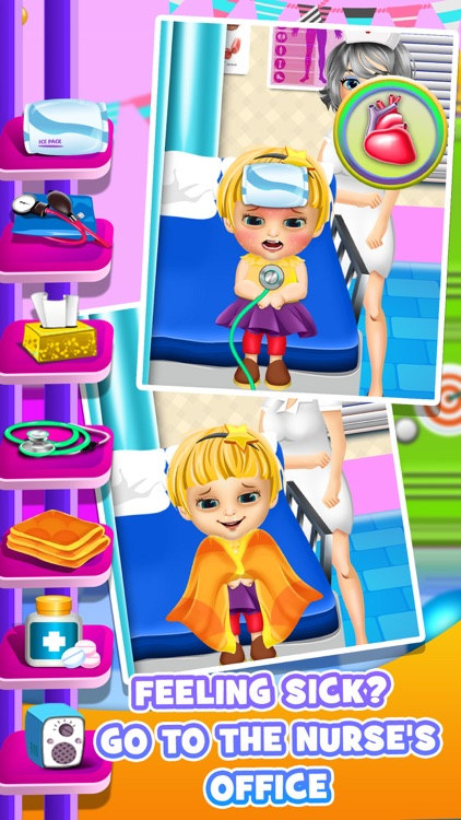 First Day of School - Baby Salon Make Up Story & Makeover Spa Kids Games!