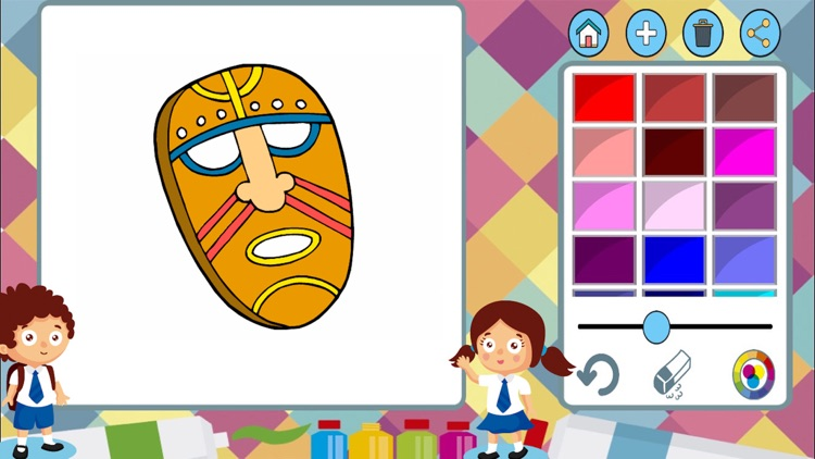 Carnival masks to paint - coloring book to draw screenshot-3