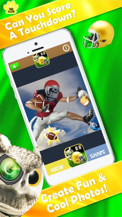 Football Zoo Owl Selfie Camera; 50+ Super Stickers screenshot-3