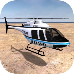 Police Helicopter On Duty 3D