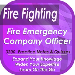Fire, Hazards & Emergency Services Company Officer: 3200 Study Notes, Tips, Concepts & Quizzes (Principles, Tactics & best Practices )