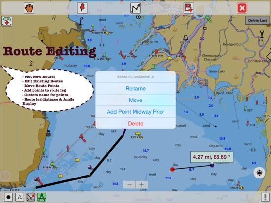 Screenshot 4 For Marine Navigation Lake Depth Maps Usa Offline Gps Nautical