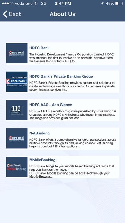 HDFC Bank AAG