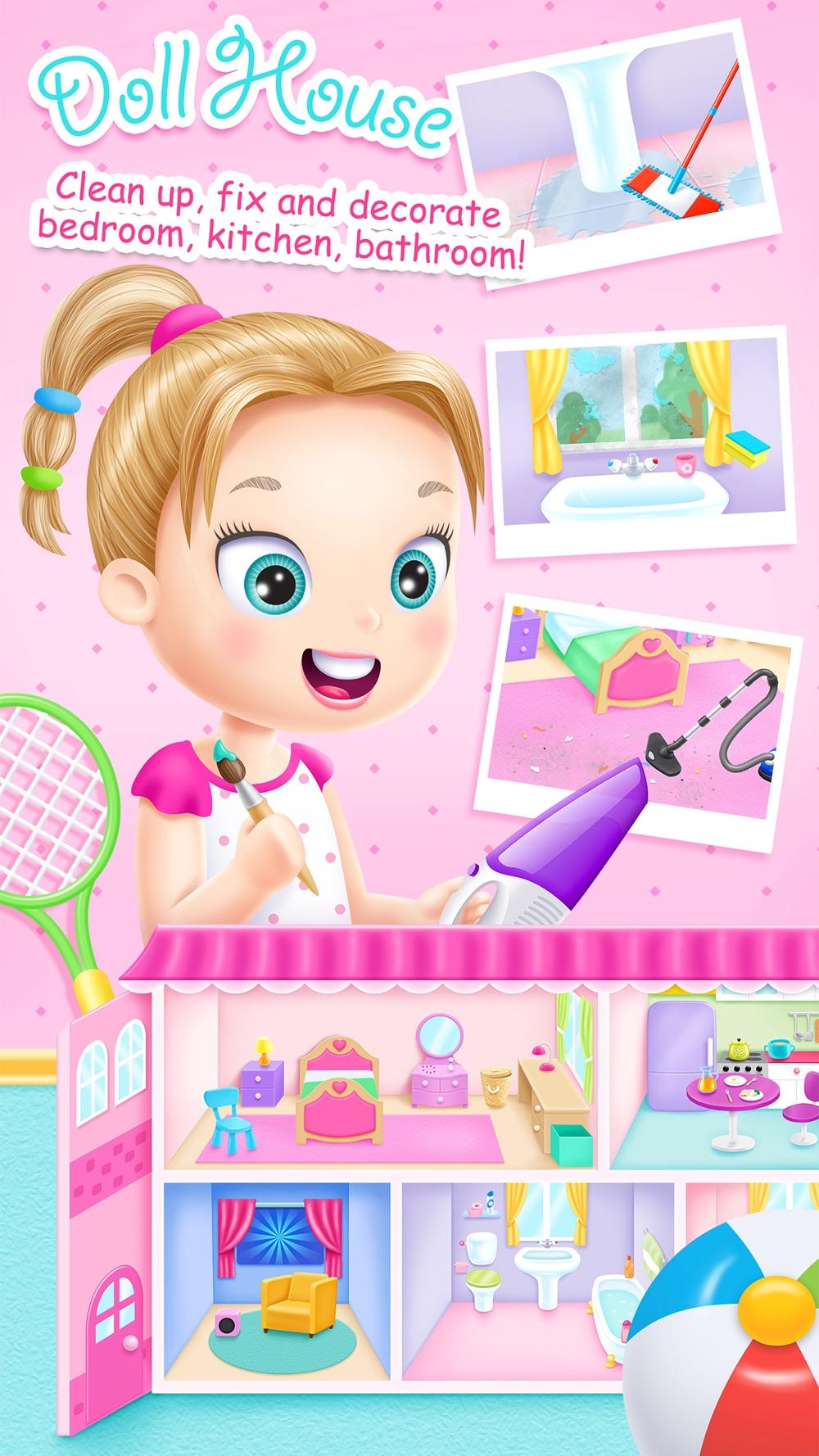 Doll House Cleanup & Decoration – Bedroom, Kitchen & Bath Designer