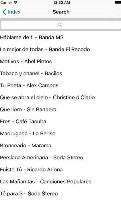 Search Songs Lyrics Chords Guitar by Pedro Najor Cruz Cruz