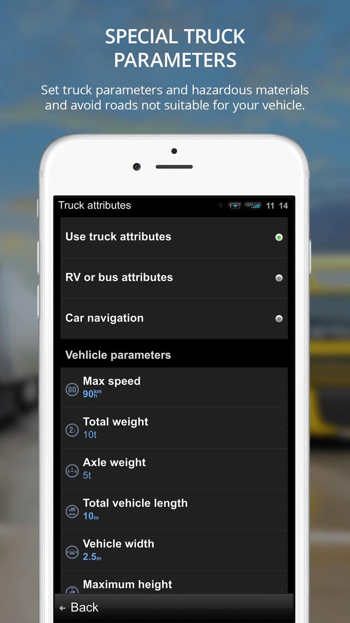 Sygic Truck GPS Navigation for Truck, Van, RV, Bus Screenshot