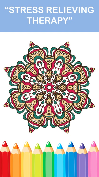 Mandala Coloring Books - Colors Therapy Free Stress Relieving Pages And Share For Adults screenshot-4