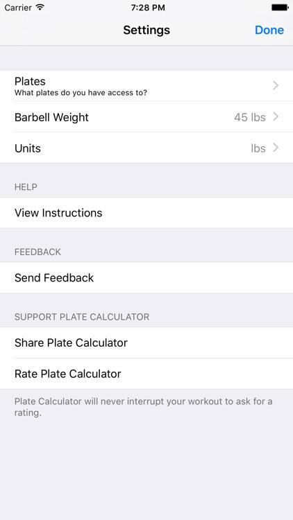 Plate Calculator - World's Fastest Barbell Calculator screenshot-3