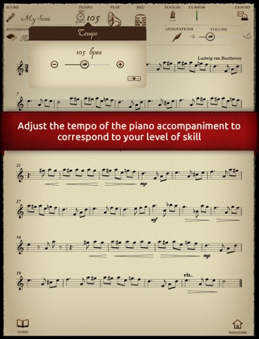 """Play Beethoven - """"For Elise"""" - Duet with piano accompaniment screenshot three"""