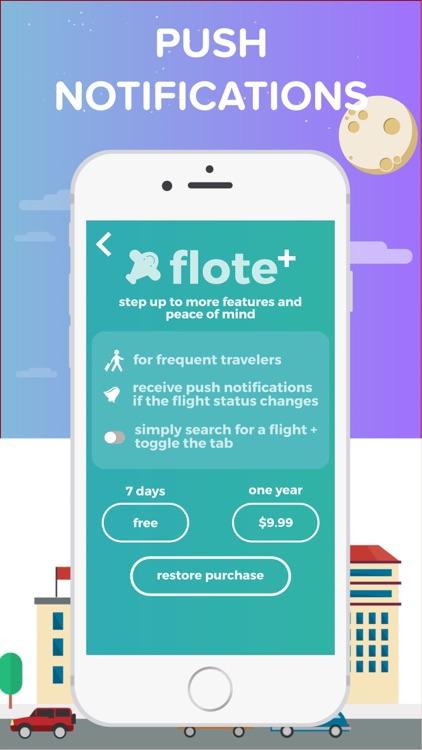 flote - flight tracker + check flight status + mobile passport screenshot-4