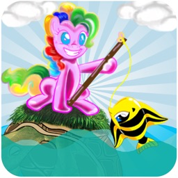 Little Unicorn Fishing Game For Kids - Pony and Turtle Boat