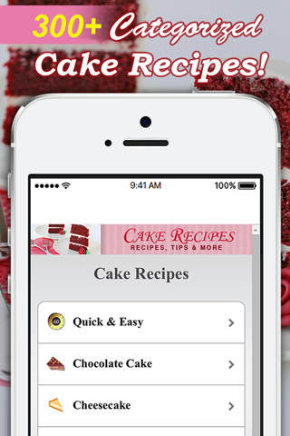 Cake Recipes! screenshot 1
