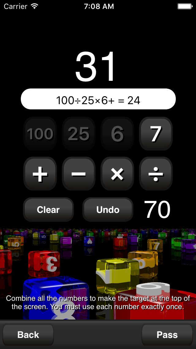 Conundra Math: a brain training number game for iPhone and