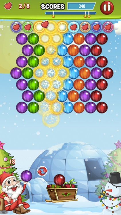 Bubble Winter Season - Matching Shooter Puzzle Game Free screenshot-3