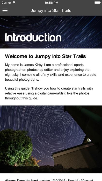 Jumpy into Star Trails