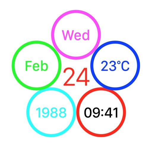 FLAT Weather Clock