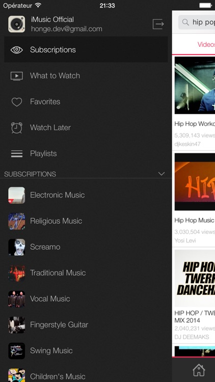 iMusic - Free Music & Videos for YouTube