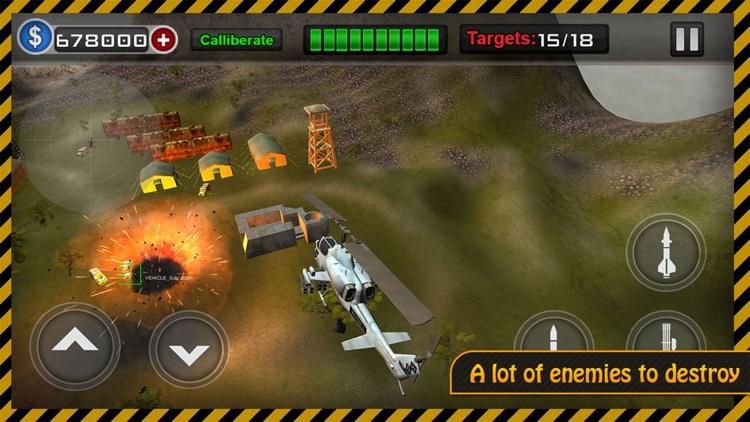 Gunship Heli Warfare Battle Game free screenshot-0
