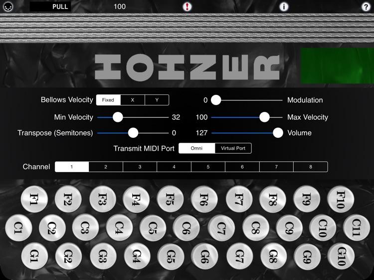 Hohner MIDI SqueezeBox - Three-Row Button Accordion MIDI Controller