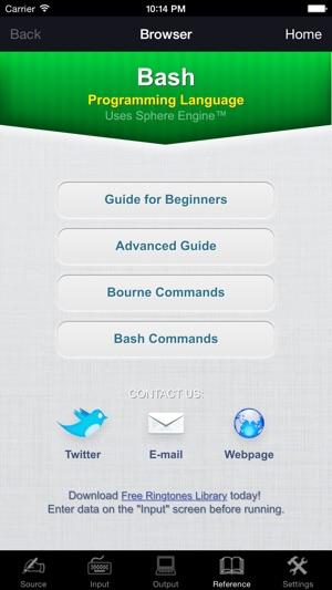 Bash Programming Language on the App Store