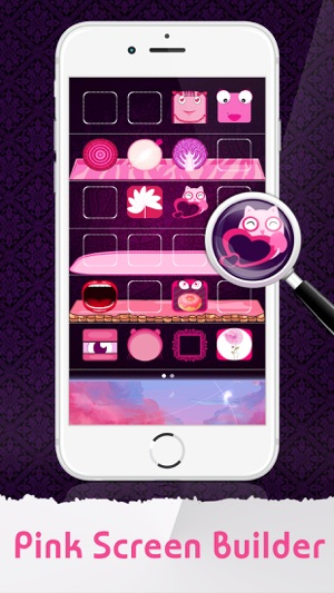 Pink Icon Skins Maker Home Screen Wallpapers For IPhone IPad