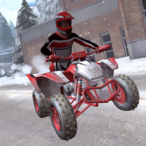 ATV Snow Racing - eXtreme Real Winter Offroad Quad Driving Simulator Game FREE Version