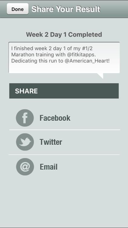 Half Marathon Trainer Pro - Run for American Heart screenshot-3