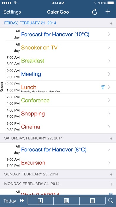 CalenGoo (sync with Google Calendar) Screenshot 4