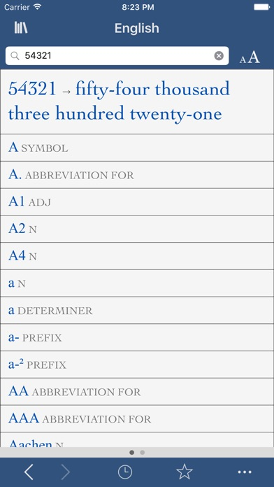 Collins English Dictionary and Verbs screenshot three