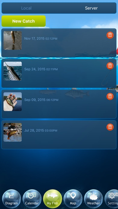 Fishing Deluxe - Best Fishing Times Calendar Screenshot 5