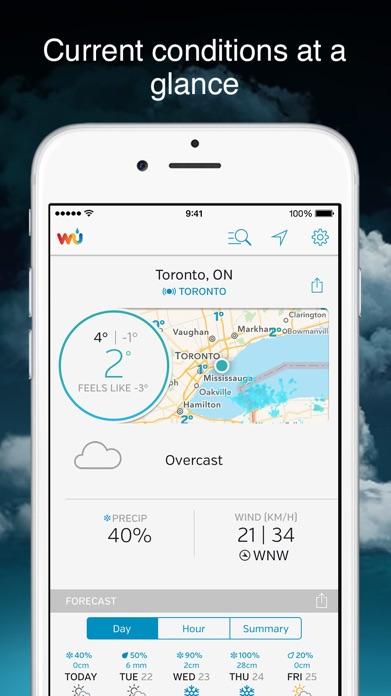 Weather Underground: Forecast Screenshot