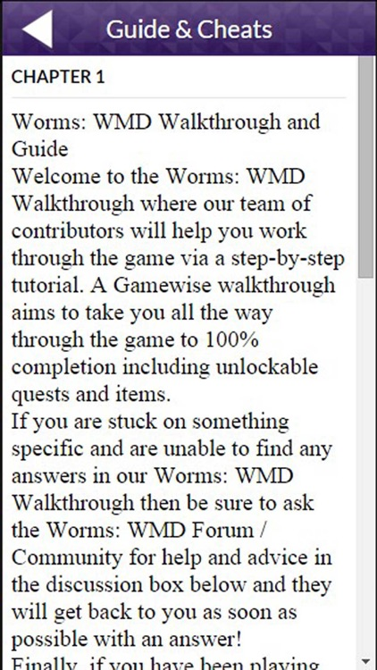 PRO - Worms W M D Game Version Guide
