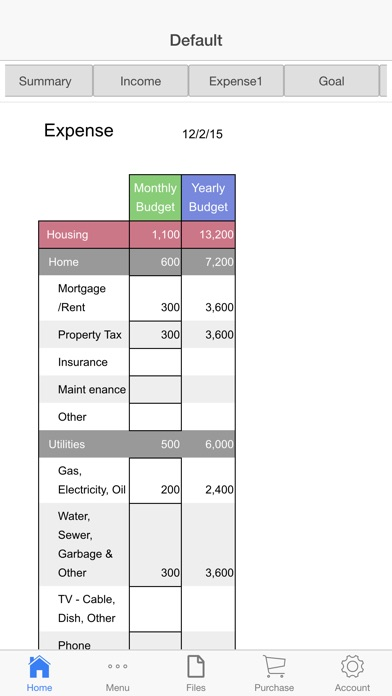 Screenshot for Monthly Budget App in United States App Store