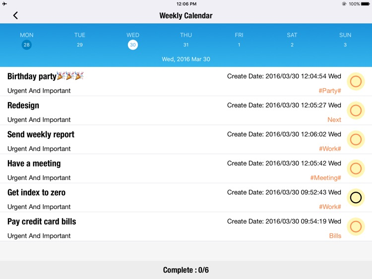 OmniToDo HD - Priority matrix,Task manager tracker screenshot-3