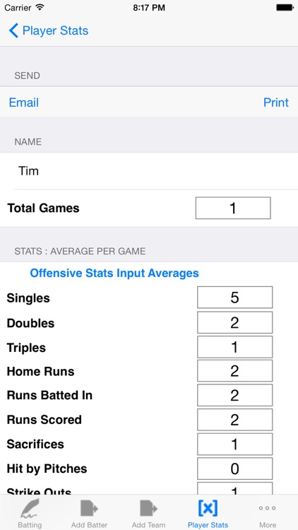 Batting Tracker : Baseball Stats for Players screenshot-3