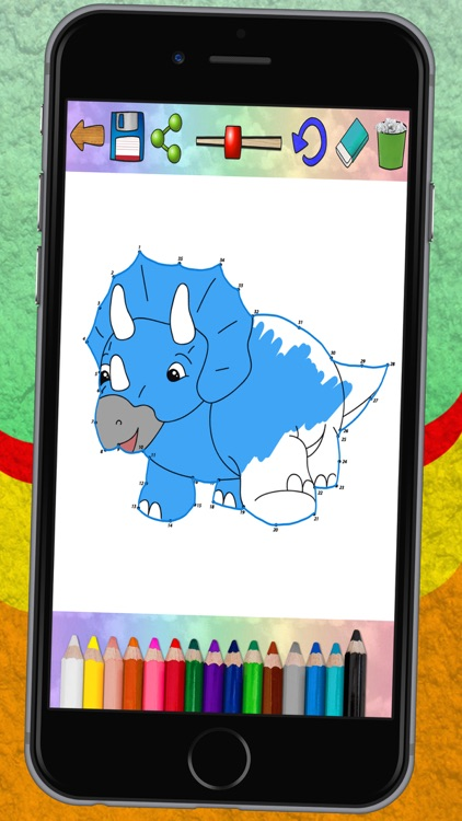 Connect dots and paint dinosaurs (dinos coloring book for kids) - Premium