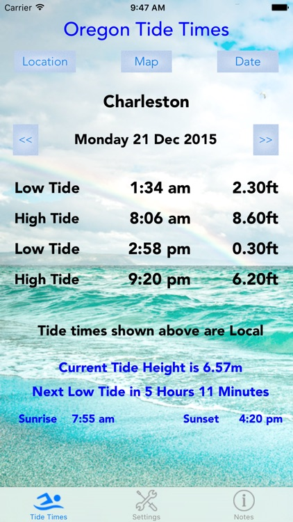 Oregon Tide Times