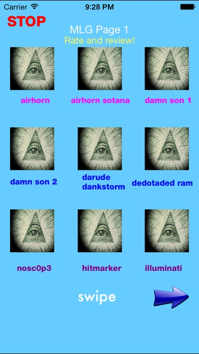 Screenshot #1 for Illuminati Soundboard