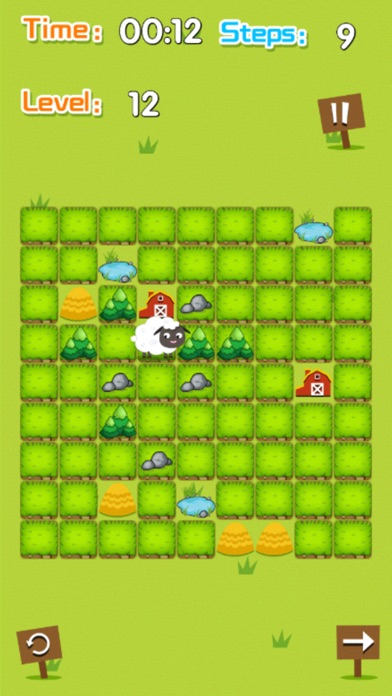 Circle Naughty Sheep Screenshot on iOS
