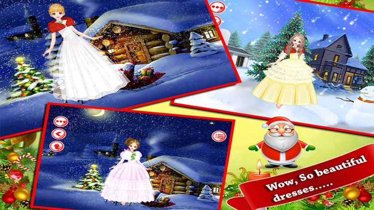 Christmas Beauty Girl Dressup Fun screenshot-3
