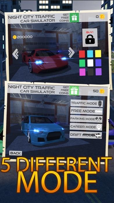 Night Traffic Car Driving Parking Career Simulator screenshot three