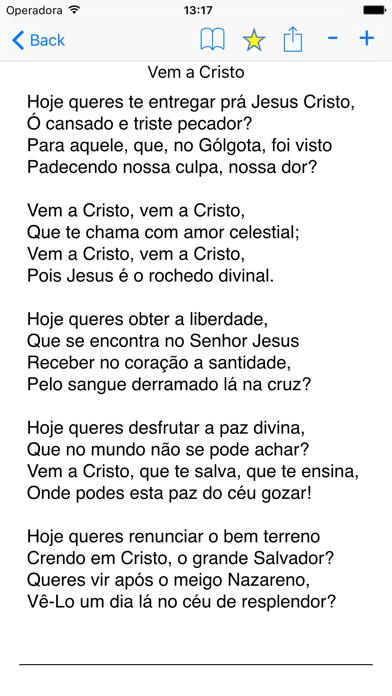 Harpa Cristã (Bible Hymns in Portuguese) screenshot two
