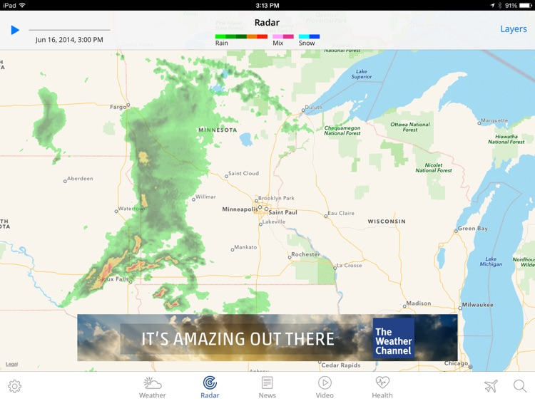 The Weather Channel App for iPad – best local forecast