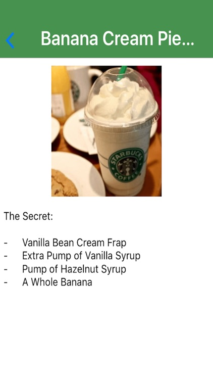Secret Menu For Starbucks Drinks & Beverages