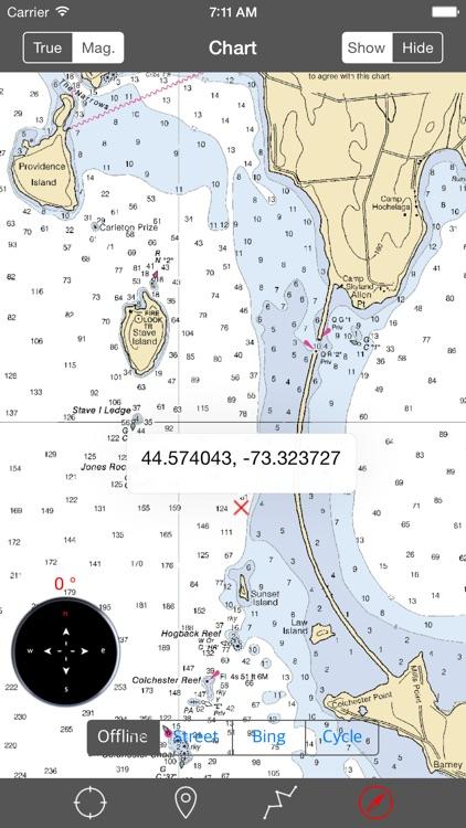 Lake Champlain – Raster Nautical Charts screenshot-3